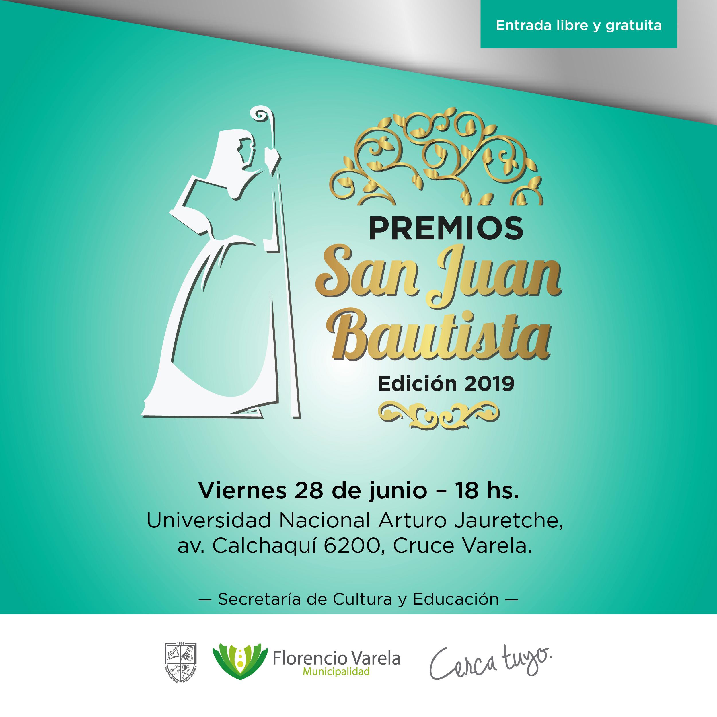 FLORENCIO VARELA: Premios y menciones San Juan Bautista 2019